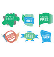 set for labels stickers plastic free product vector image