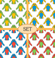 Set of seamless pattern with thermal underwear vector image vector image