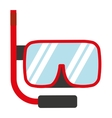 snorkel gear isolated icon design vector image vector image