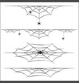 spiders and cobweb on white background vector image vector image