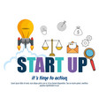 start up business set icons vector image