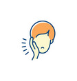 toothache icon dental pain sign man with vector image vector image