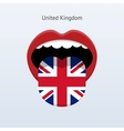 United Kingdom language Abstract human tongue vector image