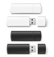 Usb flash set vector image