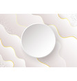 wavy abstract background with shadow vector image vector image