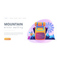 winter hiking concept landing page vector image vector image