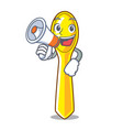 with megaphone character spoon plastic for kid vector image vector image