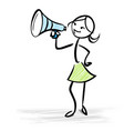 woman holding a megaphone - sales concept vector image vector image
