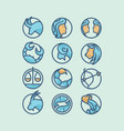 zodiac icon set vector image vector image
