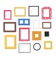 Photo frame set vector image
