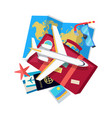 vacation conceptual flat style web banner vector image