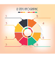 8 steps infographic vector image