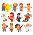 professions isolated on white background vector image