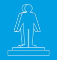 3d model of a man icon outline style vector image vector image