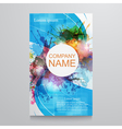 Abstract background- template poster with vector image vector image