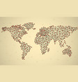 abstract polygonal world map with dots and lines vector image vector image