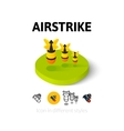 Airstrike icon in different style vector image