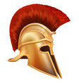 ancient greek warrior helmet vector image vector image