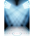 Background for posters night ice hockey stadium in vector image vector image