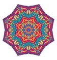 Beautiful colorful arabic geometric ornament round vector image vector image
