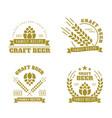 beer set emblems vector image