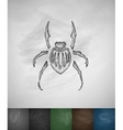 beetle icon Hand drawn vector image vector image