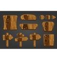 Big set of wooden boards 2 vector image