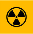 black radiation symbol isolated on yellow vector image