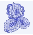 Blue abstract floral element for decorative design vector image vector image