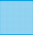 blue and white gingham background texture vector image vector image
