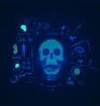 brain scan vector image
