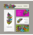 Business cards with for your design vector image vector image