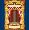 carnival circus template vector image vector image