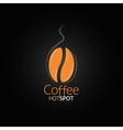 coffee bean design menu background vector image