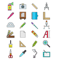 Color design icons set vector image vector image