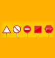 creative of road warning sign vector image vector image