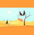 desert birds landscape composition vector image vector image