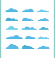 Different abstract clouds collection Design vector image