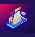 email marketing isometric 3d concept vector image vector image