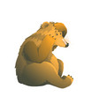 emotional naive brown bear and butterfly on his vector image vector image
