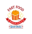 Fast food icon design French fries vector image vector image