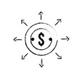 figure finance coin currency cash money vector image vector image