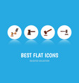 flat icon lawyer set of crime justice government vector image vector image