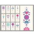 floral mini calendar 2016 vector image vector image