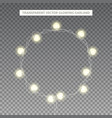 glowing garland in the shape of circle vector image vector image