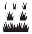 grass icon on white background flat style black vector image vector image