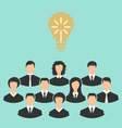 group of business people gather together birth of vector image vector image