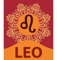 Hand-drawn zodiac Leo with ethnic floral geometric vector image vector image
