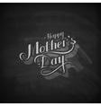 handwritten Happy Mothers Day retro label vector image vector image