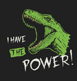 i have power vector image vector image